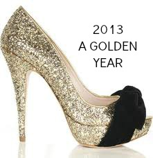 Gold glitter shoe2013